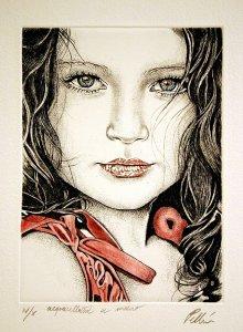 Bambina versione abito rosso | Cinzia Pellin